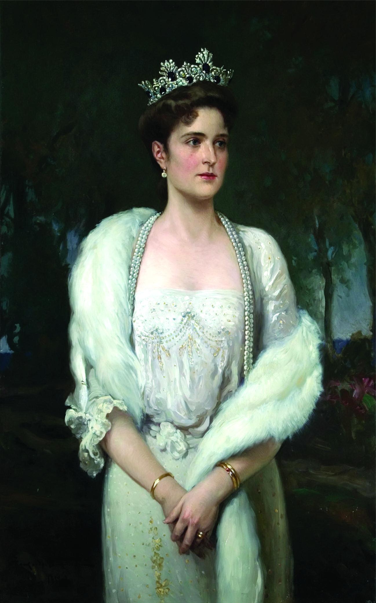 1914 Alexandra Feodorovna by Alexander Makovsky (State ...