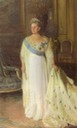 1914 Queen Olga wearing a white dress by Laurits Tuxen (Frederiksborg Slot, Hillerød Denmark)
