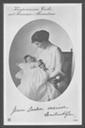 1915-1916 Cecilie and Alexandrine post card from other side