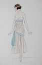 1915-1920 Lucile fashion sketch décolleté From liveauctioneers.com/item/25552149_lucile-studio-fashion-sketches-circa-1915-20