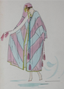 1915-1920 Lucile fashion sketch striped veil From liveauctioneers.com/item/25552149_lucile-studio-fashion-sketches-circa-1915-20