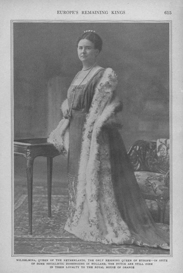 1919 Queen Wilhelmina EB despotted background and darkened