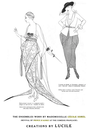 1920 (17 January issue date) Ensembles worn by Cécile Sorel in revival of Prince d'Aurec by Lucile From Olian, J. ed., Authentic French Fashions of the Twenties - 413 Costume Designs from L'Art et la Mode. Dover Publications (1990)