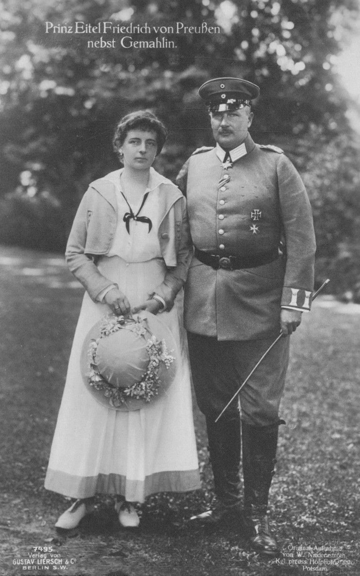 1925 Sophie Charlotte von Preussen and Eitel Fritz, Prince and Princess of Prussia UPGRADE eBay detint