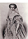 Print of Sisi's Hungarian coronation dress