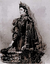 Abstracted portrait of Empress Elisabeth based on 1896 photo by ? (location unknown to gogm)