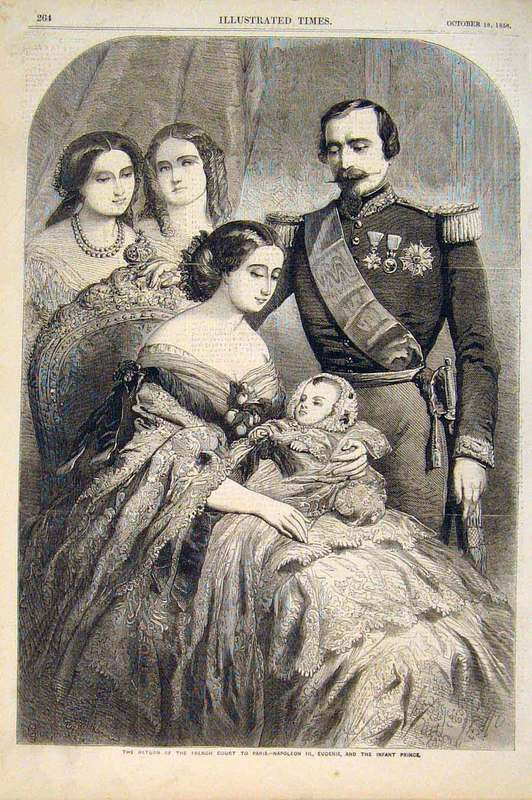 1856 Empress Eugénie, Napoleon III, and the Prince Imperial