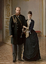 Maria Feodorovna and Alexander III by ? (location unknown to gogm)