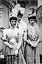 Alexandra, daughter Victoria, and Princess Hélene d'Orléans