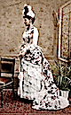 Alexandra Feodorovna wearing bustle dress