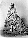 1863 Princess Alexandra wedding dress illustration