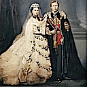 1863 Colorized image of Alexandra and Edward
