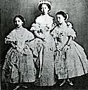 1858 Princess Alice of Hesse at her sister Vicky's wedding with Princesses Louise and Helena