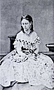 Princess Alice wearing a dress with abundant lace
