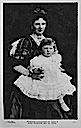 1907 (estimated from age of child) Alice of Teck with baby May