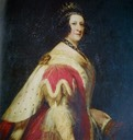 Anna Maria 7th Duchess of Bedford in court dress
