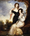 1831 Anne Elizabeth Weld Forester, Countess of Chesterfield and the Hon. Mrs. George Anson, née Isabella Elizabeth Annabella Weld Forester, daughters of Cecil, First Lord Forester by Sir Francis Grant From tumblr.com:search:19th%20c.%20Britain X 1.5