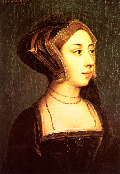 Anne Boleyn by ? after style of Holbein (Hever Castle, Kent)