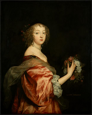 1638 Duchesse d'Aubigny by Sir Anthonis van Dyck (National Gallery of Art, Washington)