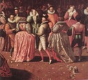 1581-1582 ca. - A Ball at the Court of Henri III by French school (Versailles) excerpt