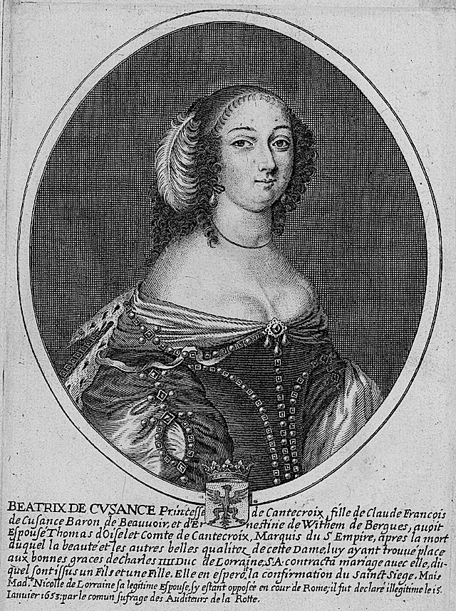 Beatrix de Cusance, princesse de Cantecroix From From www.altesses.eu:princes030.php detint