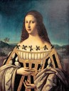 ca. 1500 Lucrezia Borgia portraying Beatrice d'Este by Bartolomeo Veneto (Snite Museum of Art, University of Notre Dame - South Bend, Indiana USA)