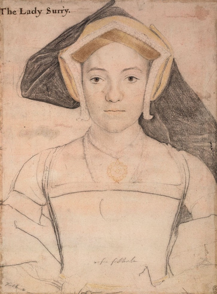 ca. 1535 Frances, Countess of Surrey by Hans Holbein the Younger (Royal Collection, Windsor Castle - Windsor, Berkshire, UK) Wm