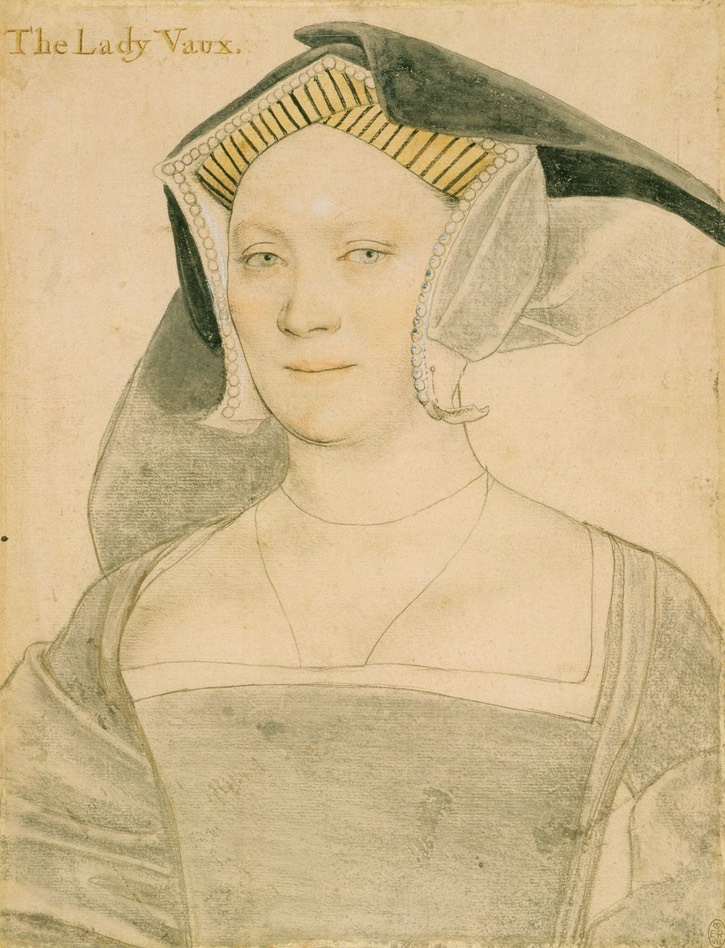 ca. 1536 Elizabeth, Lady Vaux, by Hans Holbein the Younger (Royal Collection) Wm