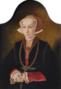 ca. 1539 Anne of Cleves (1515–1557), Queen Consort to Henry VIII by the circle of Bartholomaeus Bruyn the Elder (Trinity College, University of Cambridge - Cambridge, Cambridgeshire, UK) From artuk.org UPGRADE