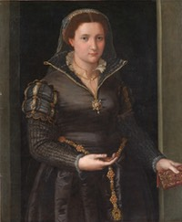 ca. 1550-1565 Isabella de' Medici (Portrait of a Lady) by ? (North Carolina Museum of Art - Raleigh, North Carolina, USA) From the museum's Web site X 1.5