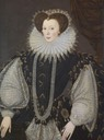ca. 1585 Elizabeth Sydenham, Lady Drake by George Gower (Buckland Abbey - Plymouth, Devon UK)