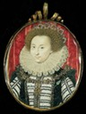 ca. 1590 Lettice Knollys, great-niece of Anne Boleyn, Granddaughter of Mary Boleyn by ? (location unknown to gogm)