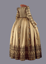 ca. 1610-1620 Back of ceremonial dress of Magdalena Sibylla, Electress of Saxony (Staatliche Kunstsammlungen Dresden) From fripperiesandfobs.tumblr.com/post/147648683142/ceremonial-dress-of-magdalena-sibylla-of-prussia