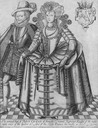 ca. 1615-1616 Robert Carr, Earl of Somerset and his wife Frances Howard engraved by Renold Elstrack Wm detint X 1.5