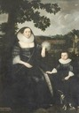 ca. 1620 (estimated based on birth date of child) Lady Anne Cotton (nee Hoghton) with her son John by Marcus Gheeraerts the younger (location unknown to gogm)