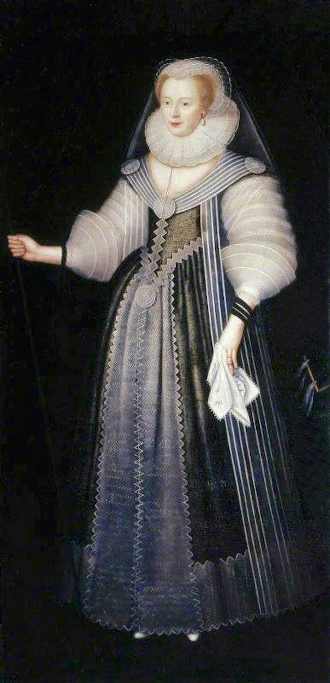 ca. 1624 Lady Frances Howard (1578–1639), Duchess of Lennox and Richmond by ? (The Vyne - Basingstoke, Hampshire, UK) From artuk.org  despot shadows X 4:3