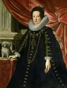 ca. 1630 Anna de Medici with a dog by Justus Sustermans (Kunsthistorisches Museum - Wien Austria)