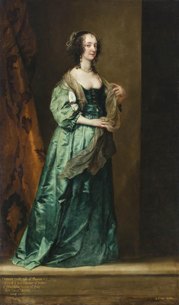 ca 1636 margaret smith wife of thomas carey by sir