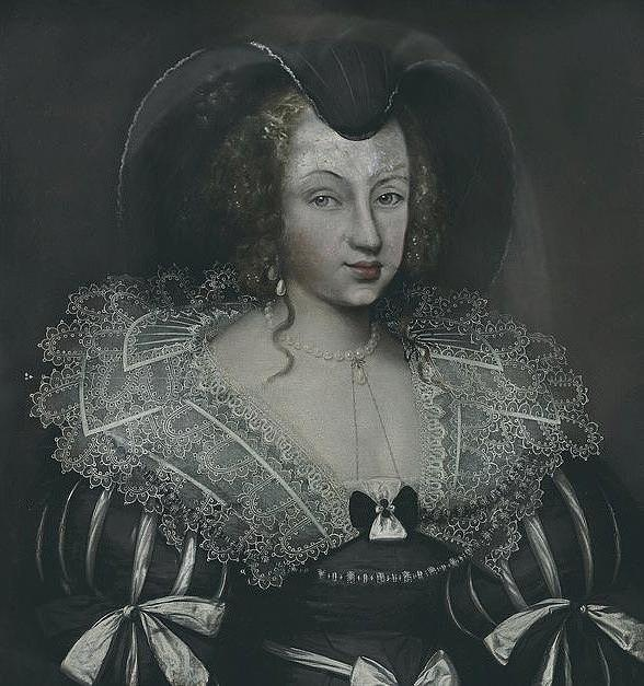 ca. 1637 (estimate based on date of husband's demise) Christine of France as Dowager Duchess of Savoy by ? (location unknown to gogm) despot