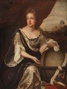 ca. 1655 (based on her activities in Rome) Queen Christina of Sweden (1626–1689), in Rome by Michael Dahl the Elder (Attingham Park - Shrewsbury Shropshire UK)