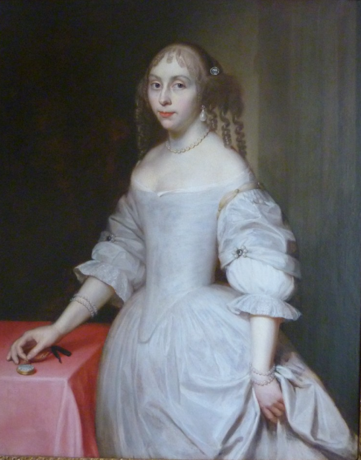 ca. 1660 Lady, Possibly Elizabeth Trentham, Viscountess Cullen by circle or studio of Sir Peter Lely (sold by Roy Precious) From sellingantiques.co.uk/249237/.png