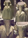ca. 1660 Silver tissue dress with parchment lace (Fashion Museum, Bath - Bath, Somerset, UK) From pinterest.com/hannahrc15/17th-century/ inc. exposure