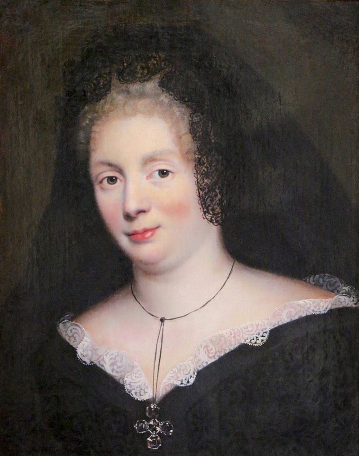 ca. 1670 Mme. de Maintenon by Pierre Mignard workshop (sold to ?) From anticstore.art:60053P shadows despot