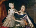 ca. 1690 Mary Beatrice d'Este, Queen of James II, with her only son, James III, the Jacobite Pretender by Benedetto Gennari the Younger (private collection)