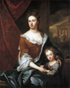ca. 1694 Princess Anne and William, Duke of Gloucester by studio of Sir Godfrey Kneller (National Portrait Gallery, London)