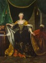 ca. 1730 Empress Elisabeth Christine by Johann Gottfried Auerbach (auctioned, probably by Lempertz) Wm trimmed