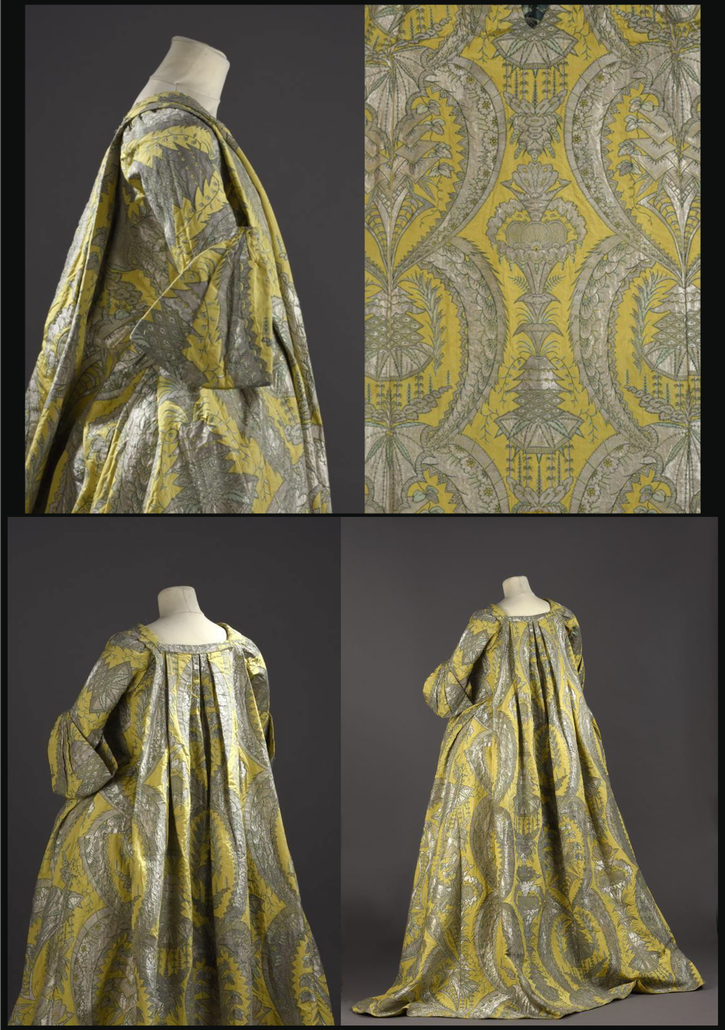 ca. 1730 Robe volante (Musée de la Mode - Paris, France) From fripperiesandfobs.tumblr.com-post-139802377452-robe-volante-ca-1730-from-the-palais-galliera