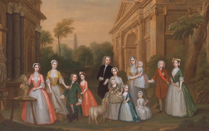 ca. 1732 Watson-Wentworth and Finch Families by Charles Philips (Yale Center for British Art, Yale University - New Haven, Connecticut, USA) persons Wm