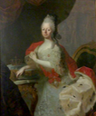 ca. 1765 Dowager Electress Maria Antonia Walpurgis of Saxony, Princess of Bavaria by birth by ? (location unknown to gogm) Wm X 1.5 inc. exposure inc. contrast