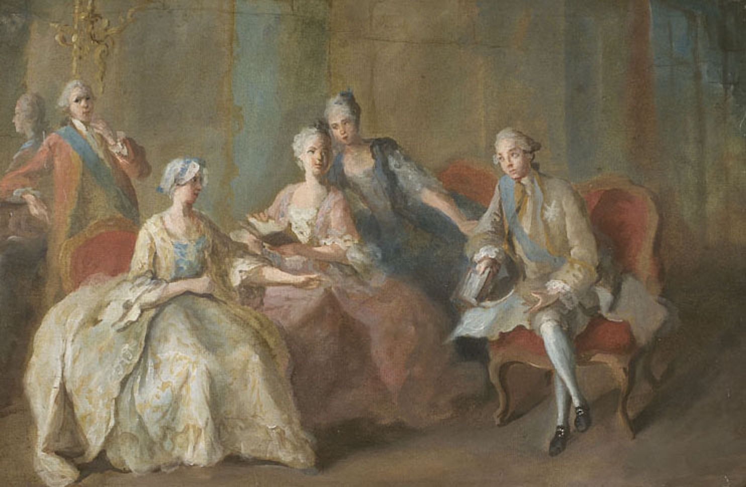 1767 Family of the Duke of Penthièvre by Jean-Baptiste Charpentier (Château  de Sceaux - Sceaux, Hauts-de-Seine France)